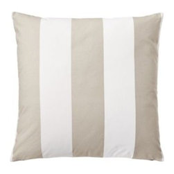 Serena & Lily - Awning Stripe Pillow Cover Sand - Tried-and-true awning stripes have always had a place in our heartsand now in our homes. More beachy glam than sporty, our stripes are large and in charge, and ready to mix with prints of any scale.