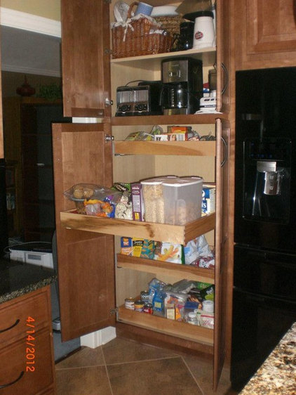 Traditional Kitchen Drawer Organizers by Caruso's Cabinets