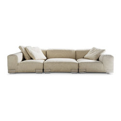 Kartell - Plastics Duo Set of 2 of Pillows (Set of 2) - Set of 2 cushions for Plastics Duo sofa by Kartell. Available in several colours for your sofa. Features: -Fabric 46% cotton, 45% viscose, 8% linen, 1% silk. -Feather fillinng.