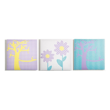 Modern Littles - Modern Littles Pretty Nature Canvas Print Set - PASMMSET4 - Shop for Wall Decorations from Hayneedle.com! Plant the seeds for future art lovers with the Modern Littles Pretty Nature Canvas Print Set. Crafted with durable engineered wood frames covered in canvases printed with floral and tree designs and sweet pastel-hued patterns these three prints are an artful accent in any kid's or teen's room. Hang them together or individually.About Modern LittlesWhen it comes to the building blocks of a well-designed kid's room Modern Littles' storage bins create a solid foundation. The company specializes in clean modern storage bins - as well as prints wall decals and laundry baskets - that help parents create fully organized coordinated spaces with just a few practical pieces. Six collections are appropriate for boys and girls with something for every age from newborn to teen.