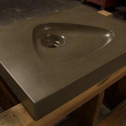 Mid Century Modern Atomic Clarendon Concrete Sink by Gore Design Co. - CLARENDON SINK