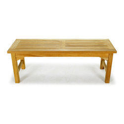 Westminster Teak Furniture - 4 ft Teak Shower Bench - This 4 ft Teak Shower Bench maybe the most versatile bench we offer since it is can be used at a table for extra seating, set in your entry way for changing shoes or great as a seat in the shower, only your imagination can limit its use. The mortise and tenon joinery, micro-smooth finish and craftsmanship make this a favorite for many tasks. Our teak benches are built to standards that will support 325 pounds.