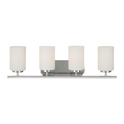 Sea Gull - Sea Gull Four Light Wall / Bath - Width: 27 1/2''