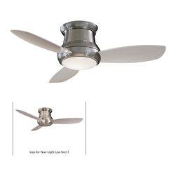 Minka Aire - Minka Aire Concept II 44 Ceiling Fan in Brushed Nickel - Minka Aire Concept II 44 Model F518-BN in Brushed Nickel with Silver Finished Blades. Included Single Light Fixture for Concept II.