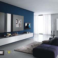 Modern Living Room by EVAA Home Design Center
