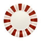 Red Vanilla Rogue 11 in. Dinner Plate