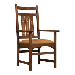 Stickley Harvey Ellis Arm Chair with Inlay 89/91-353-A -