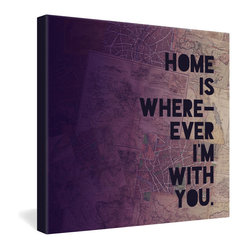 Leah Flores With You Gallery Wrapped Canvas