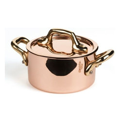 Mauviel - Mauviel M'heritage Mini Cocotte & Lid, Bronze Handle, 0.4 qt. - Bilaminated copper stainless steel (90% copper and 10% 18/10 stainless steel)