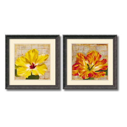 Amanti Art - Fabric Floral - set by Dysart - With nature-inspired imagery in rich, colorful hues, these fine art prints will infuse your home with an earthy beauty. An excellent wall art accent for the lover of art with flowers.