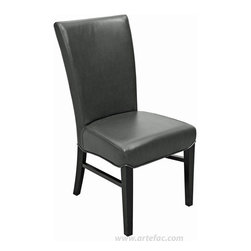 leather dining chair black leather h 39 x w 19 one of the mos