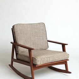 Mid-Century Rocker Chair - The '60s lines of this rocker make it mid-century perfect. How great would this be in a nursery or as an extra chair in a living room? I would love to rock the little one to sleep each night in such a beautiful chair.