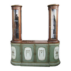 Hollywood Regency Distressed Ornate Sideboard Credenza Hutch - www.buyfoundobjects.com