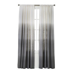 Threshold Ombré Stripe Window Panel, Gray - The soft graduation of gray hues on these affordable curtains would work in almost any decor setting.