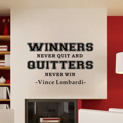 ColorfulHall Co., LTD - Family Wall Decals Winners Never Quit And Quitters Never Win - Family Wall Decals Winners Never Quit And Quitters Never Win