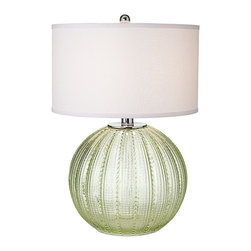 Pacific Coast Lighting - Pacific Coast Lighting 87-7105-46 Green Urchin Table Lamp - - Midori Green Finish