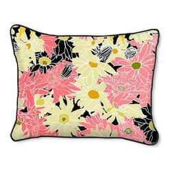 Casart Coverings - Flower Power Pillow Slipcover - Reversible, all-weather, washable pillow slipcover
