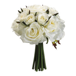 Silk Plants Direct - Silk Plants Direct Confetti Rose Bouquet (Pack of 6) - White - Pack of 6. Silk Plants Direct specializes in manufacturing, design and supply of the most life-like, premium quality artificial plants, trees, flowers, arrangements, topiaries and containers for home, office and commercial use. Our Confetti Rose Bouquet includes the following: