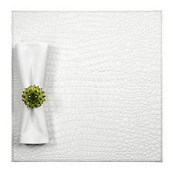 Everglades Placemats - Set of 4 White