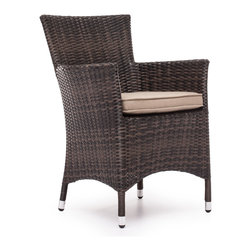 ZUO VIVA - South Bay Chair Brown - Enjoy a refreshing cocktail in the shade with the South Bay Table Set. Frame is constructed from aluminum and the weave is UV treated polypropylene.