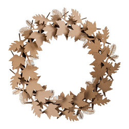 Cardboard Safari - Giant Leaf Wreath, Brown - Our recycled Wreaths are perfect for decorating your home or business. Our white cardboard is especially easy to paint or decorate using markers, glitter and other craft materials.