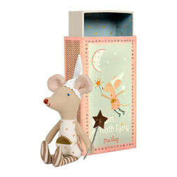 Maileg - Mouse Tooth Fairy In A Box, Girl - The cutest Tooth Fairy Mouse in the world now comes with a Maileg Match Box!