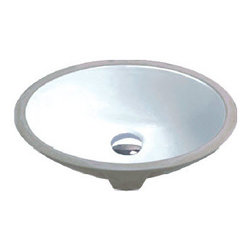 Hahn - Hahn Ceramic Small Oval Bowl Undermount White Bathroom Sink - With great durability and clean lines, this Hahn sink features a gently curved subtle oval shape that is nearly circular. Adding an understated elegance to any style of bathroom, this bowl comes in a lovely white ceramic/porcelain.