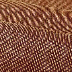 Reflection Textured Upholstery Fabric in Purple Berry - Reflection Textured Upholstery Fabric in Purple Berry has a subtle check pattern created with tan chenille yarns woven into a purple base. The nubby texture creates and inviting feel that is perfect for upholstery projects or custom bedding and pillows.