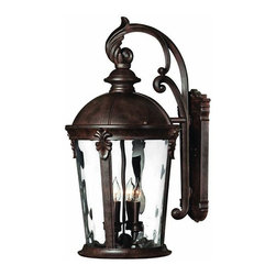 Hinkley - Hinkley Windsor Four Light River Rock Wall Lantern - 1899RK - This Four Light Wall Lantern is part of the Windsor Collection and has a River Rock Finish. It is Outdoor Capable, and Wet Rated.