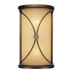 "Minka Lavery - Minka Lavery 6231-288 Deep Flax Bronze Atterbury Traditional / Classic - Minka Lavery 6231 Traditional / Classic Two Light Wall Sconce from the Atterbury CollectionTwo Light Wall SconceDeep Flax Bronze FinishVenata de Oro Glass2-60W Medium Base Bulb (Not Included)Dimensions: 11.75""H x 7.25""W x 4""D"