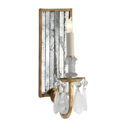 """Visual Comfort - Visual Comfort TOB2237GI Thomas O'Brien Elizabeth Mirror Back 1 Light Wall Sconc - Vintage modern lighting from the influential New York designer and home furnishings merchant Thomas O'Brien. Retro and industrial styles meet up with chi glamour and sophisticated finishes, ideal for town or country.Candelabra BulbBackplate: 5"""" x 12"""" Rectangle Bulb Type: Incandescent Collection: Thomas O'Brien Extension: 7-3 4 Finish: Gilded Iron Height: 14-3 4 Number of Lights: 1 Wattage: 60 C Width: 5"""