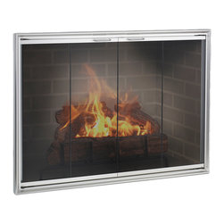 Shadow Aluminum Fireplace Glass Door - Custom Product -