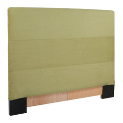Howard Elliott - Microsuede Twin Slipcovered Headboard - The Slip covered Headboard is constructed with a sturdy wood frame that is padded for maximum comfort, making it solid yet cozy. This piece features a willow green faux suede cover.