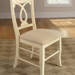 Coaster - Holland Pineapple Chair, Ivory - Set of 2 - This elegant group features a generously sized rectangle table top with a sleek molded edge that compliments the table's light finished base. Shapely wooden legs complete the look that is sure to complement your decor. Pair with one of the matching chairs available in black, red, ivory or blue.