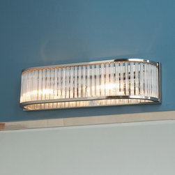 Reeded Glass Arc Bath Light - 2 Light -