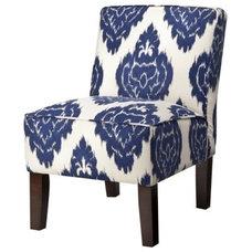 Burke Armless Upholstered Slipper Chair - Blue D... : Target