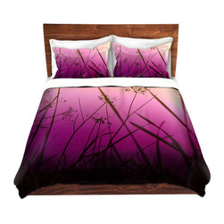 DiaNoche Designs - Duvet Cover Microfiber - Summer Haze - DiaNoche Designs works with artists from around the world to bring unique, artistic products to decorate all aspects of your home.  Super lightweight and extremely soft Premium Microfiber Duvet Cover (only) in sizes Twin, Queen, King.  Shams NOT included.  This duvet is designed to wash upon arrival for maximum softness.   Each duvet starts by looming the fabric and cutting to the size ordered.  The Image is printed and your Duvet Cover is meticulously sewn together with ties in each corner and a hidden zip closure.  All in the USA!!  Poly microfiber top and underside.  Dye Sublimation printing permanently adheres the ink to the material for long life and durability.  Machine Washable cold with light detergent and dry on low.  Product may vary slightly from image.  Shams not included.