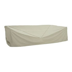 "Outdoor Sectional Cover, Khaki - Prolong the life of your outdoor furniture with our durable covers. Our khaki Outdoor Sectional Cover is constructed of tightly woven polyester and backed with polyvinyl chloride to protect against damage from rain and snow. Our covers are puncture and crack resistant. 137"" wide x 71"" deep x 33"" high Reinforced seams and substantial ties add durability. Built-in vents provide air circulation. Allows you to store up to 6 pieces. Fits our Chesapeake, Palmetto, Faraday, Riviera, Hampstead, Chatham, Saybrook and Torrey Sectionals. View our {{link path='pages/popups/fb-outdoor.html' class='popup' width='480' height='300'}}Furniture Brochure{{/link}}."