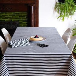Sailor Charcoal Tablecloth - If I ever use a tablecloth, it will be this one. It would work for every occasion.
