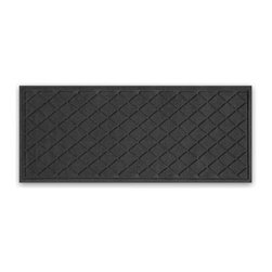 "Balsam Hill - Balsam Hill® StormGuard Doormat - Charcoal Diamond Faceted - 22"" x 60"" - The Balsam Hill Diamond Faceted pattern StormGuard� floor mat keeps your entryways spotless and clean, even in the harshest of weather. Made out of premium synthetic fiber, this tough but elegant floor mat traps moisture, dirt, and dust while resisting everyday wear and tear, mold, and mildew. Our heavy-duty floor mat is able to retain its attractive appearance for many years and it also boasts an absorbency rate of over one gallon per square yard. Fits standard doorways, comes in the color charcoal. Free shipping when you buy today!"