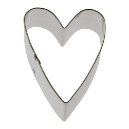 HOF - Heart Primitive 3 In. - Heart Primitive cookie cutter, made of sturdy tin, Size 3 in., Depth 7/8 in., Color silver
