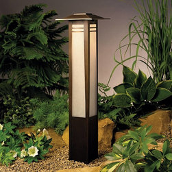 Kichler - Kichler Zen Garden Outdoor Post/Pier in Olde Bronze - Shown in picture: Bollard 1-Lt 12V in Olde Bronze