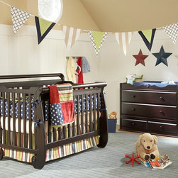 Serenity Convertible Crib - •The Serenity crib is a sleigh style bed, elegant and European