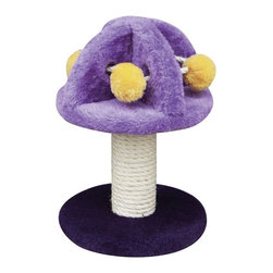 PetPals - PetPals Group Mushroom Shape Cat Toy with Sisal Post Multicolor - PP0030 - Shop for Towers and Houses and Accessories from Hayneedle.com! Give your mouser the most with the PetPals Group Mushroom Shape Cat Toy with Sisal Post. Just like Alice in Wonderland s cat-erpillar your kitty will love perching atop this mushroom-shaped toy. The all-natural sisal-covered scratching post will keep cat claws away from your furniture while the fleece-covered fuzzballs are perfectly designed for playful pussycats. About PetPals Group:PetPals Group LLC based in California is proud to offer the very best in pet products. From their classic fashion-conscious designs to their use of eco-friendly materials PetPals does its best to provide products for its multi-cultural international customer base by assembling lines to fit the needs of a diverse range of pets and owners. With fifteen years of cross-global production and manufacturing experience PetPals maintains strong relationships with its sellers in order to bring customers high-quality earth-conscious items.