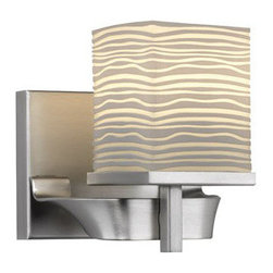 "Forecast Lighting - Forecast Lighting F4400 Single Light 5.8"" Wide Bathroom Fixture / Wall Sconce fr - Contemporary / Modern Single Light 5.8"" Wide Bathroom Fixture / Wall Sconce from the Isobar CollectionRequires 1 50w G9 Halogen Bulb (Included)Fixture must be mounted as shown. Can not be inverted"