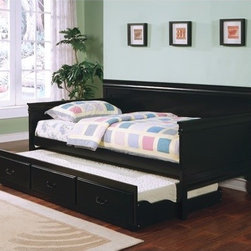 """Wildon Home � - Casey Daybed with Trundle - Features: -Includes daybed, linkspring and trundle unit. -Traditional style. -Solid wood. -Framed in solid wood. -Shapely molding, clean lines. Specifications: -Daybed: 39.375"""" H x 42.5"""" W x 81"""" D."""