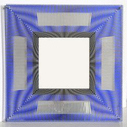 Jesus Rafael Soto, Miroir d'Artistes, Screenprint on Plexiglass and Mirror - Artist:  Jesus Rafael Soto, Venezuelan (1923 - 2005)