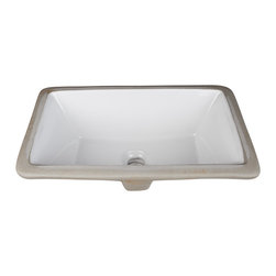 "Hardware Resources - H8909WH Undermount Porcelain Rectangle Sink - Undermount Porcelain Rectangle Sink Basin. 16"" x 9-7/8"" . Each sink comes with a mounting kit."