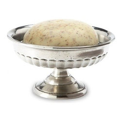 Match Pewter - Match Pewter Impero Soap Dish - Handmade in northern Italy, each piece bears a stamped symbol from the region in which it was made.