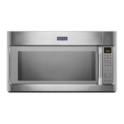 Maytag - MMV6190DS 1.9 cu. ft. Over-The-Range Microwave with 1000 Cooking Wattage  EvenAi - The MMV6190D Over-The-Range Microwave from Maytag will bring elegance to your kitchen and excellence to your cooking It has stainless steel handles 19 cu ft capacity EvenAir convection mode halogen lighting quick touch settings 14 turn table and 1600...